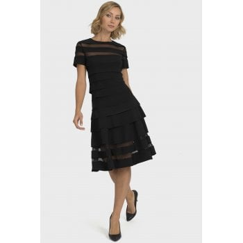 Joseph Ribkoff Black Short Sleeve Dress - 193310