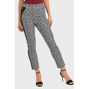 Joseph Ribkoff Black & White Print Trousers - 193738