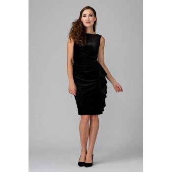 Joseph Ribkoff Black Velvet Dress 194552