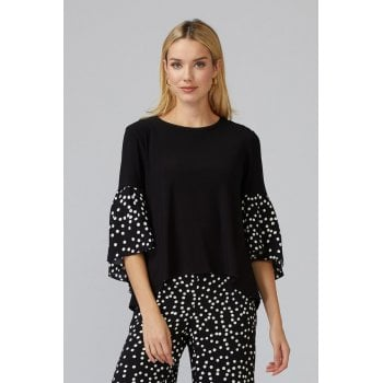 Joseph Ribkoff Black & White Spot Top 201504