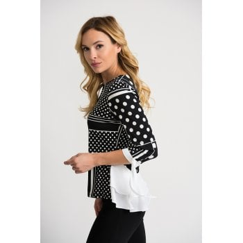 Joseph Ribkoff Black White Top - 202183