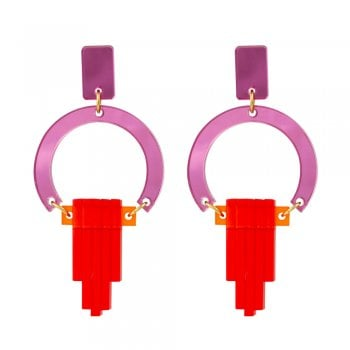 Toolally Pink and Red Earrings