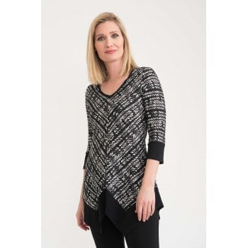 Joseph Ribkoff Black and White Top 203039
