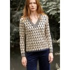 Leo & Ugo Navy/Beige Sweater KH673