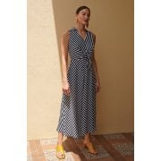 Joseph Ribkoff Navy Stripe Maxi  Dress 201340
