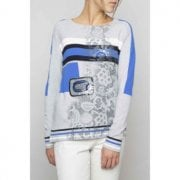 Elisa Cavaletti Royal Blue & Grey Jumper EJW204032501