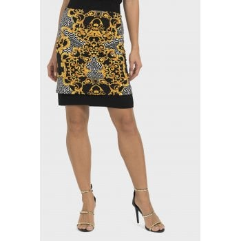 Joseph Ribkoff Black and Gold Skirt - 193588
