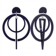 Toolally Sundials – Navy Earrings