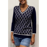 Leo & Ugo Navy Top - BE507