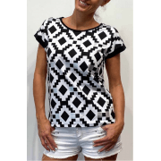 Leo & Ugo Black & White Top - TEJ359